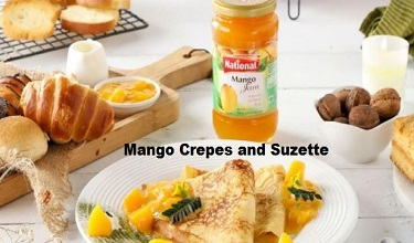 Mango Crepes and Suzette