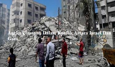 Angka kematian Dalam Konflik Antara Israel Dan Gaza